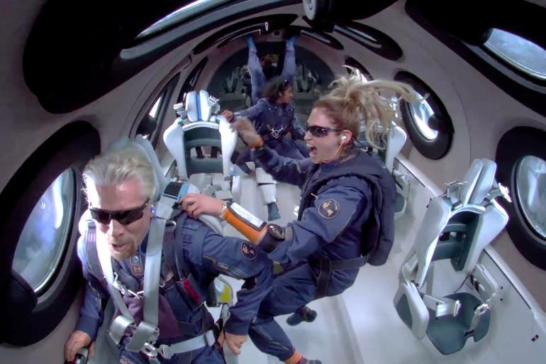 Richard Branson Takes Flight
