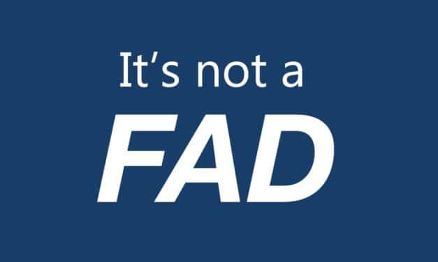 It's not a fad